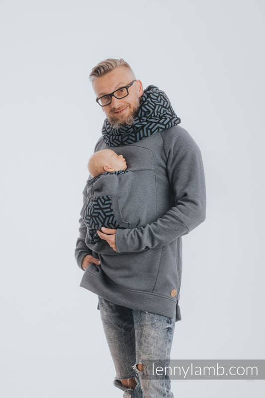 Babywearing Sweatshirt 3.0 - Jeans with Kyanit - size XXL #babywearing
