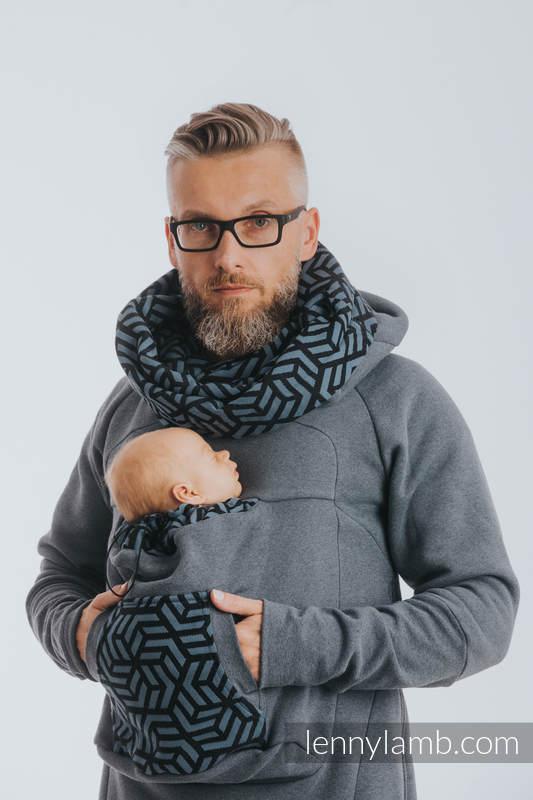 Babywearing Sweatshirt 3.0 - Jeans with Kyanit - size 3XL #babywearing