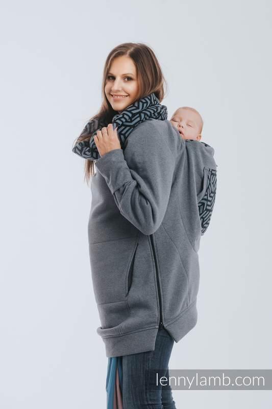Sudaderas de porteo 3.0 - Jeans con Kyanit - talla M #babywearing
