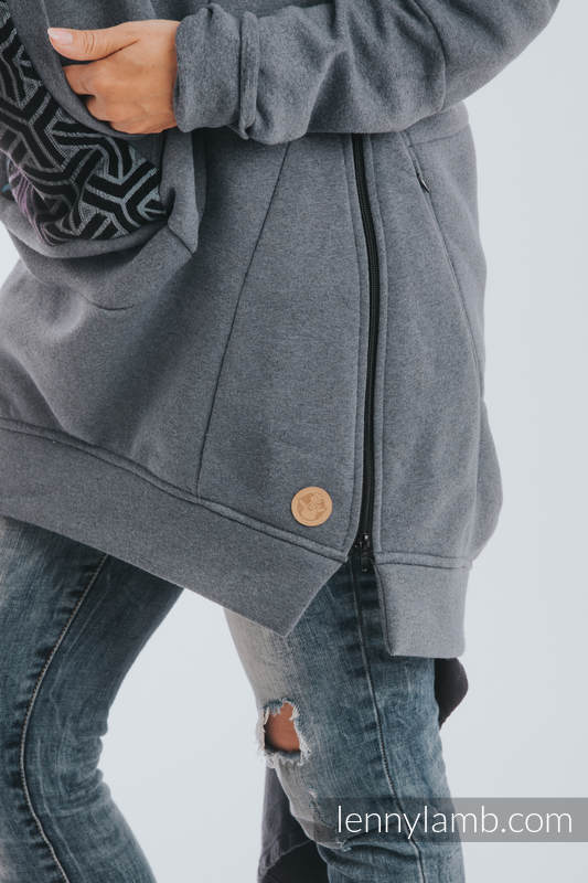 Babywearing Sweatshirt 3.0 - Jeans with Trinity Cosmos - size S #babywearing