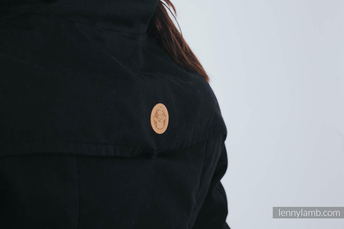 Babywearing trench coat - size XL - Black (grade B) #babywearing