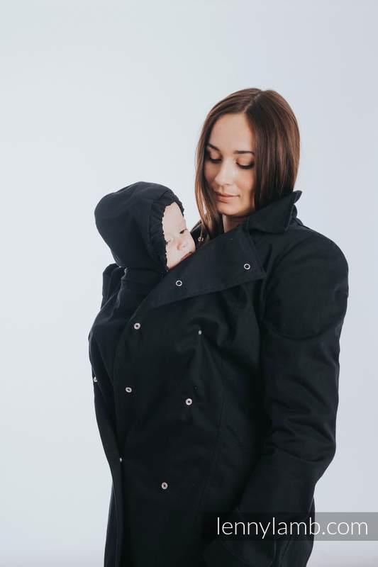 Babywearing trench coat - size 6XL - Black #babywearing