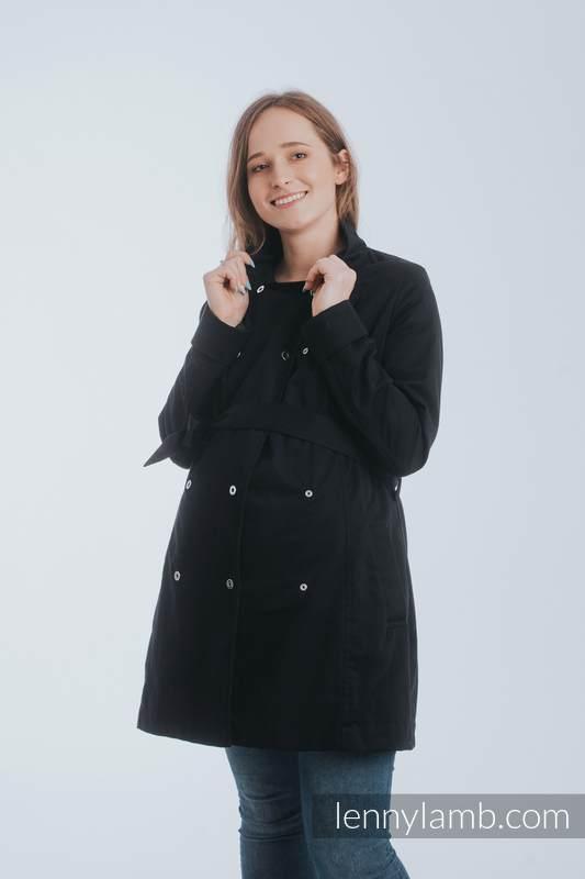 Babywearing trench coat - size L - Black (grade B) #babywearing
