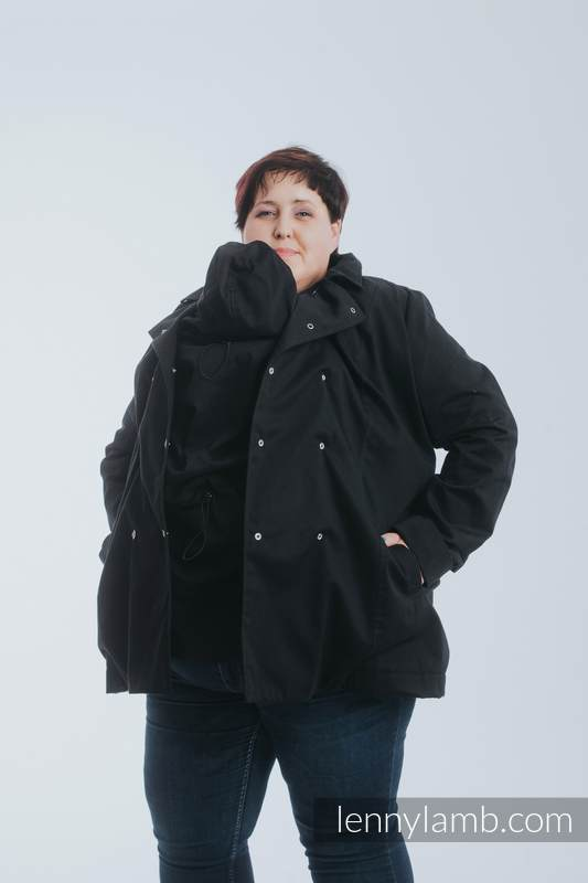 Płaszcz do noszenia dzieci - rozmiar 5XL - Czarny #babywearing