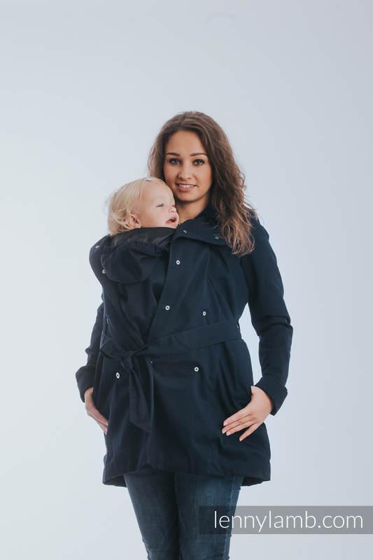 Płaszcz do noszenia dzieci - rozmiar 5XL - Granatowy #babywearing