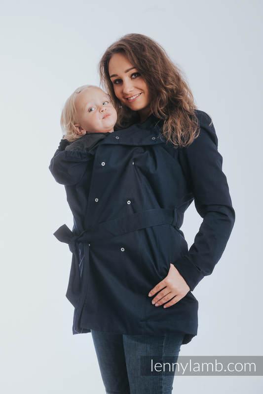 Babywearing trench coat - size 5XL - Navy Blue #babywearing