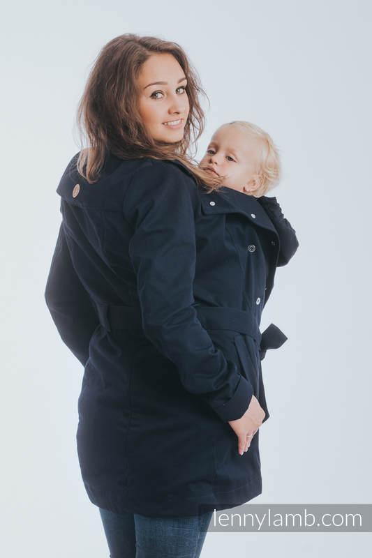 Babywearing trench coat - talla XL - Azul marino (grado B) #babywearing