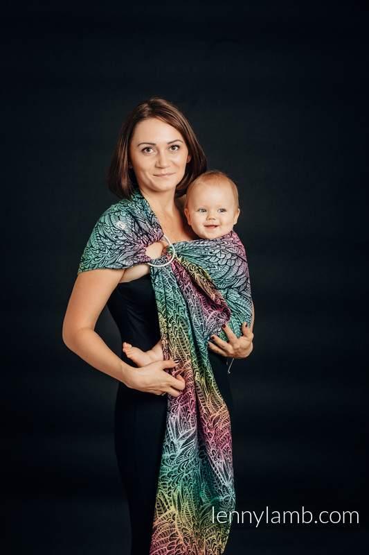 Ringsling, Jacquard Weave (100% cotton) - WILD SOUL - long 2.1m #babywearing