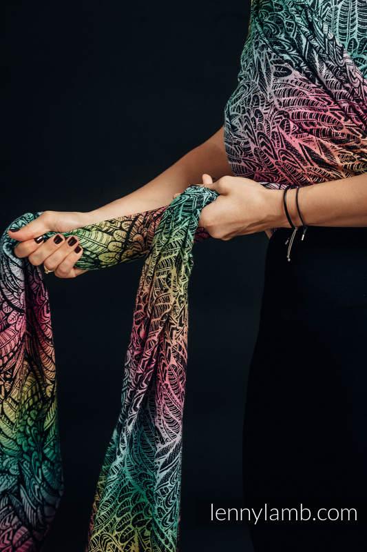 Baby Wrap, Jacquard Weave (100% cotton) - WILD SOUL - size XS #babywearing