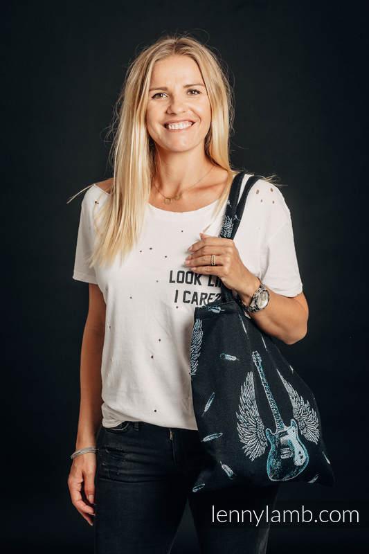Bolsa de la compra hecho de tejido de fular (100% algodón) - WINGED GUITARS #babywearing