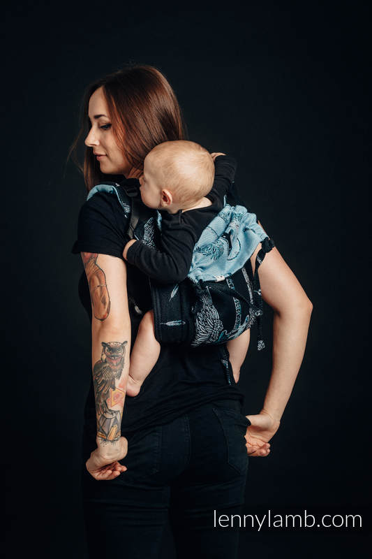 Onbuhimo SAD LennyLamb, talla Toddler, jacquard (100% algodón) - WINGED GUITARS #babywearing