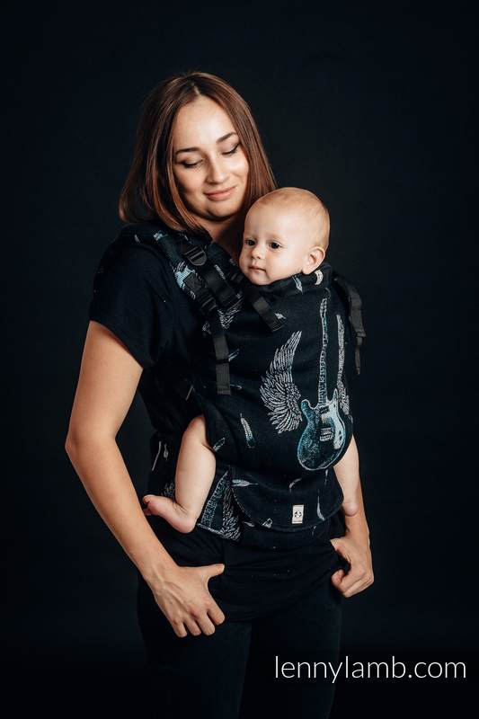 LennyUp Carrier, Standard Size, jacquard weave 100% cotton - wrap conversion from WINGED GUITARS #babywearing
