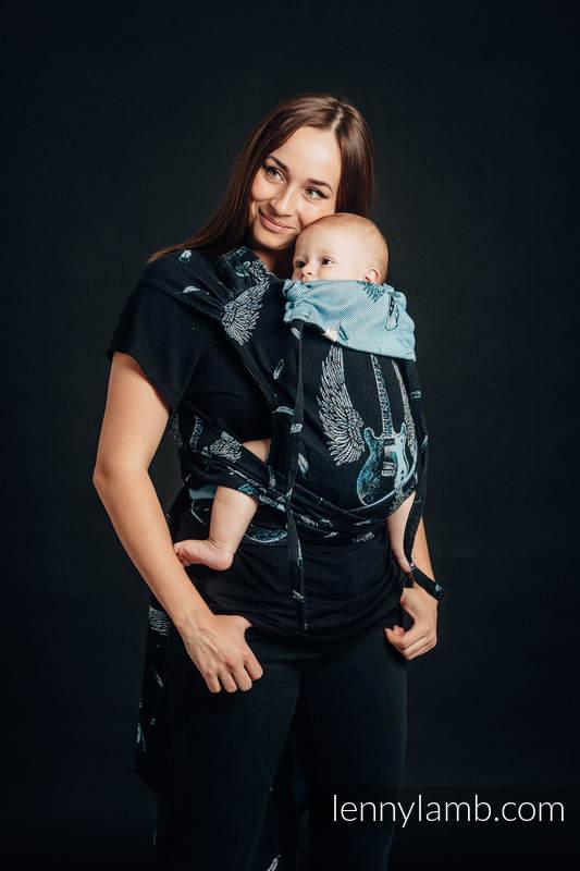 WRAP-TAI portabebé Toddler con capucha/ jacquard sarga/100% algodón  - WINGED GUITARS #babywearing