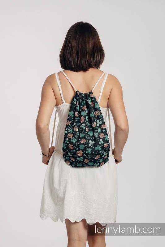 Mochila portaobjetos hecha de tejido de fular (100% algodón)  - KISS OF LUCK - talla estándar 32cm x 43cm #babywearing