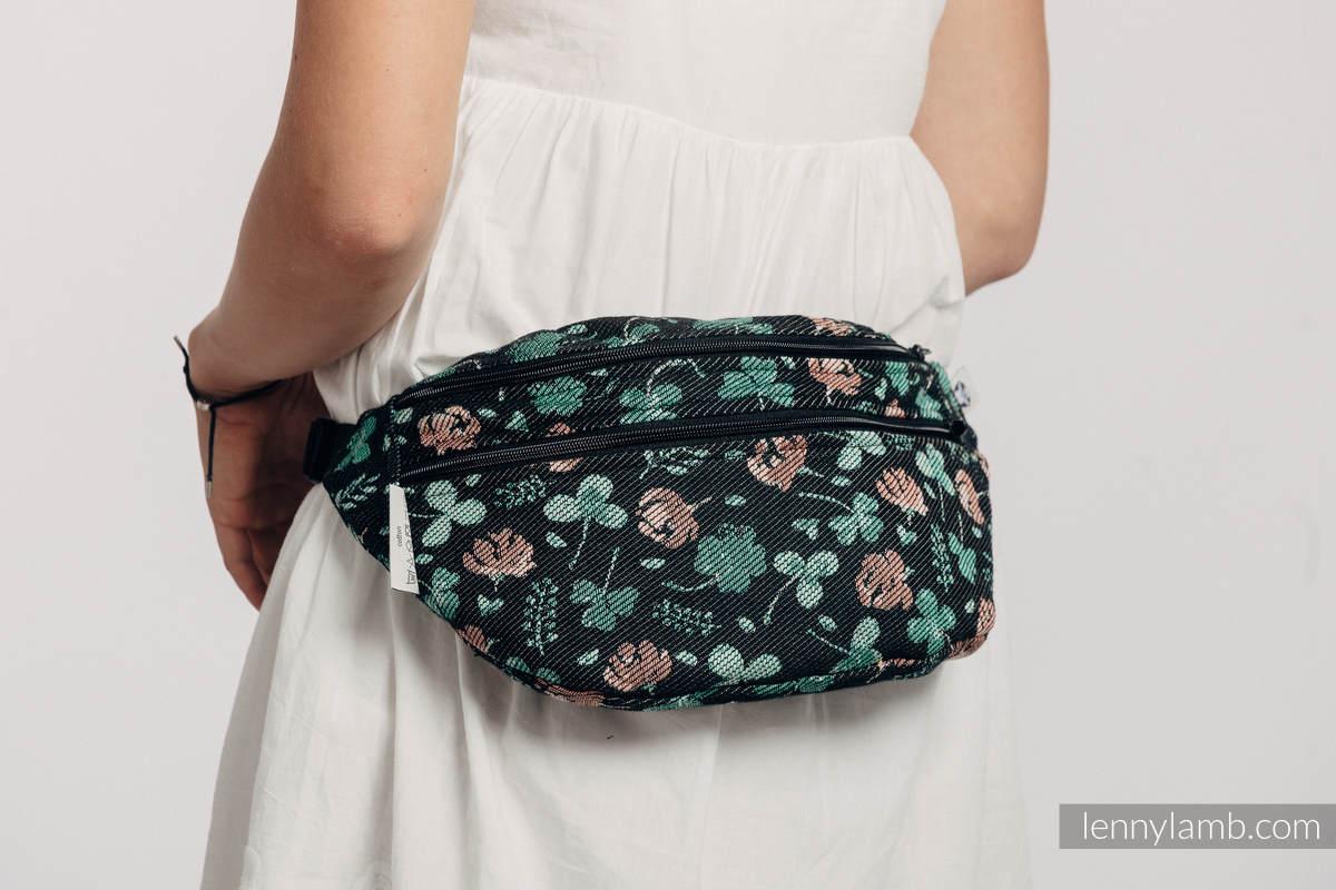 Saszetka z tkaniny chustowej, (100% bawełna), rozmiar large - POCAŁUNEK SZCZĘŚCIA #babywearing