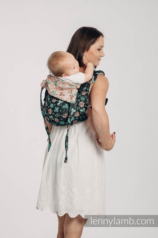 Lenny Buckle Onbuhimo Tragehilfe, Größe Standard, Jacquardwebung (100% Baumwolle) - KISS OF LUCK #babywearing