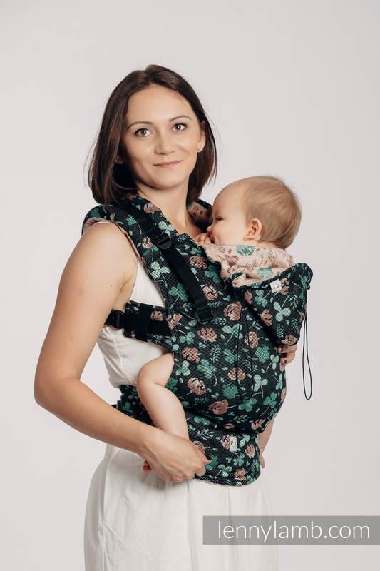 Nosidełko Ergonomiczne z tkaniny żakardowej, 100% bawełna , Baby Size - POCAŁUNEK SZCZĘŚCIA - Druga Generacja #babywearing