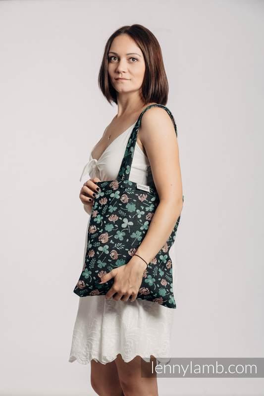 Einkaufstasche, hergestellt aus gewebtem Stoff (100% Baumwolle) - KISS OF LUCK #babywearing