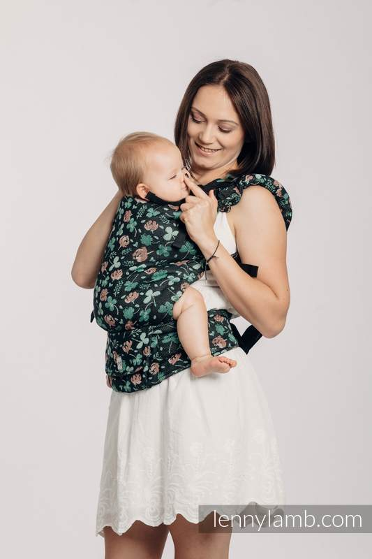 LennyUp Carrier, Standard Size, jacquard weave 100% cotton - KISS OF LUCK #babywearing