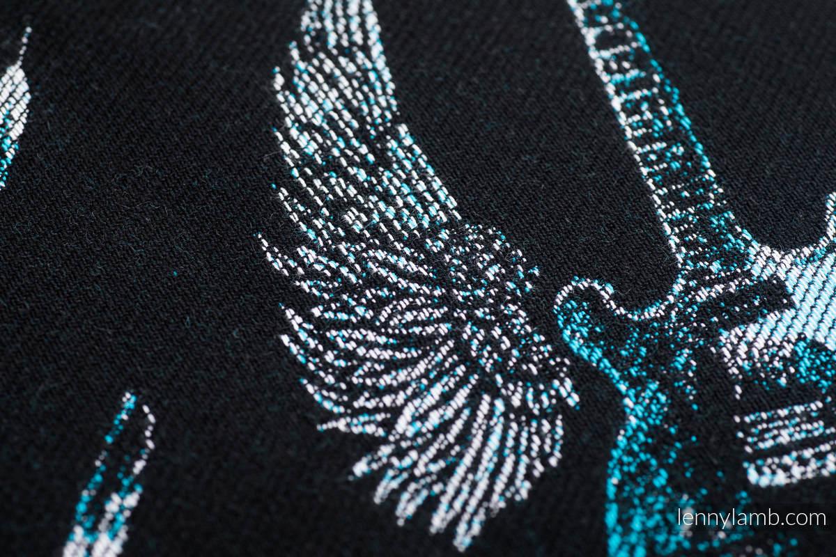 Żakardowa chusta do noszenia dzieci, 100% bawełna - SKRZYDLATE GITARY - rozmiar L  #babywearing