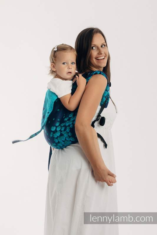 Lenny Buckle Onbuhimo Tragehilfe, Größe Standard, Jacquardwebung (100% Baumwolle) - FINESSE - TURQUOISE CHARM #babywearing