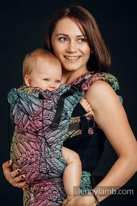 Nosidełko Ergonomiczne z tkaniny żakardowej, 100% bawełna , Baby Size - WOLNY DUCH - Druga Generacja #babywearing