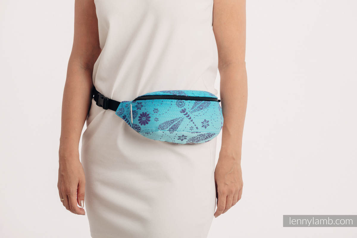 Waist Bag made of woven fabric, (100% cotton) - DRAGONFLY- FAREWELL TO THE SUN #babywearing