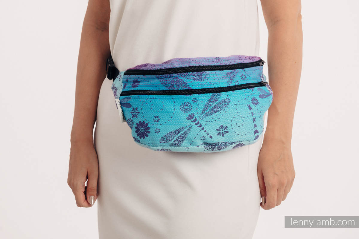 Waist Bag made of woven fabric, size large (100% cotton) - DRAGONFLY- FAREWELL TO THE SUN #babywearing