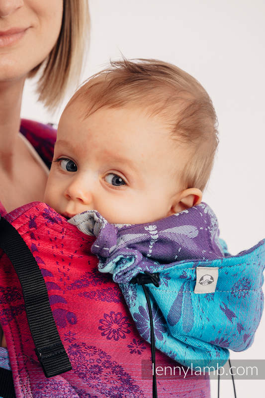 Ergonomic Carrier, Baby Size, jacquard weave 100% cotton - wrap conversion from DRAGONFLY- FAREWELL TO THE SUN - Second Generation #babywearing
