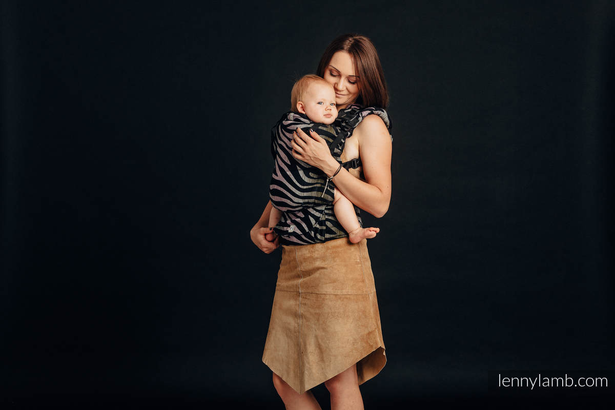 LennyUp Carrier, Standard Size, jacquard weave (65% cotton, 35% linen) - wrap conversion from SHADE OF ACACIA #babywearing