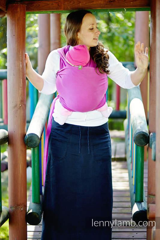 Chusta do noszenia dzieci, elastyczna - Fuksja - rozmiar standardowy 5.0 m #babywearing
