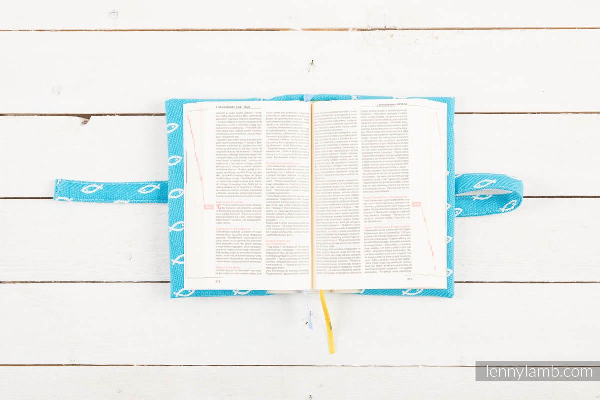 Okładka na Pismo Święte ICHTYS - NIEBIESKI - wymiar 16.5x11x6.5 #babywearing