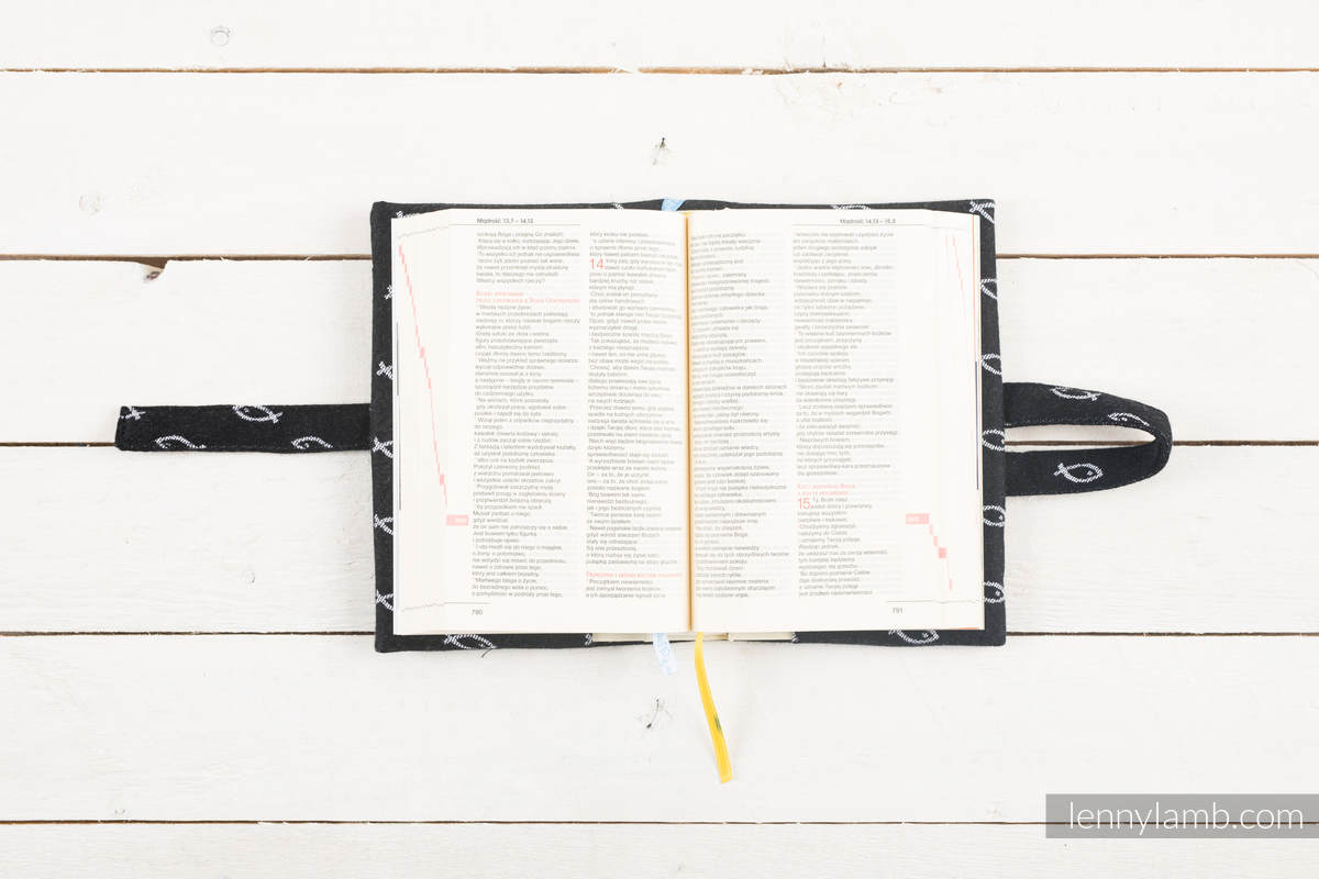 Okładka na Pismo Święte ICHTYS - CZARNY - wymiar 16.5x11x6.5 #babywearing