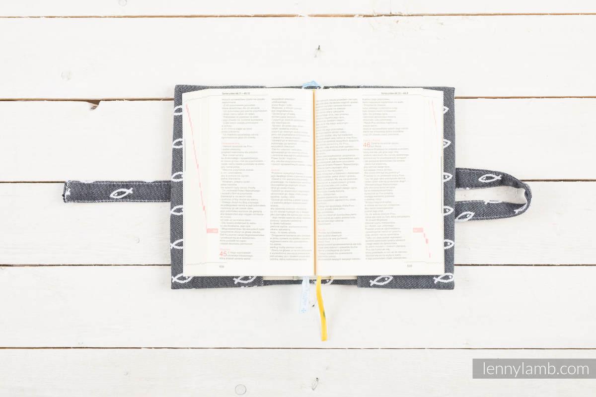 Okładka na Pismo Święte ICHTYS - GRAFITOWY - wymiar 23x16.5x6 #babywearing