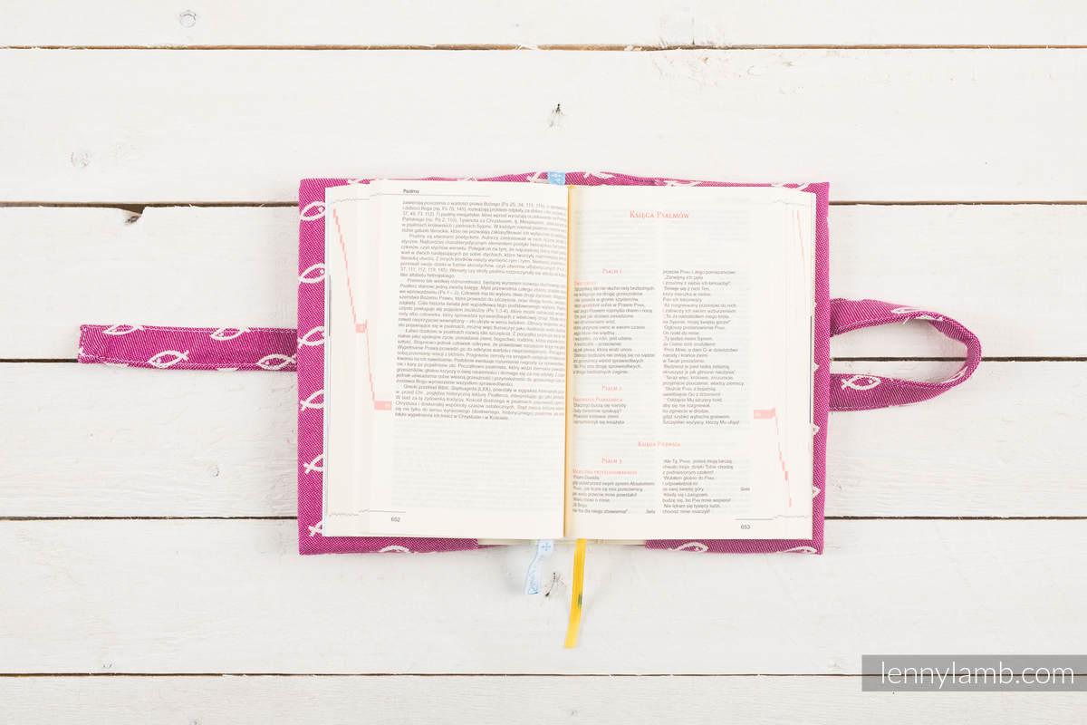 Okładka na Pismo Święte ICHTYS - RÓŻOWY - wymiar 22x16x5 #babywearing