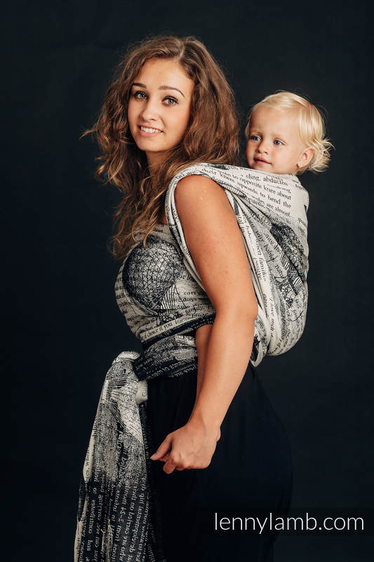 Baby Wrap, Jacquard Weave (100% cotton) - FLYING DREAMS - size XL #babywearing