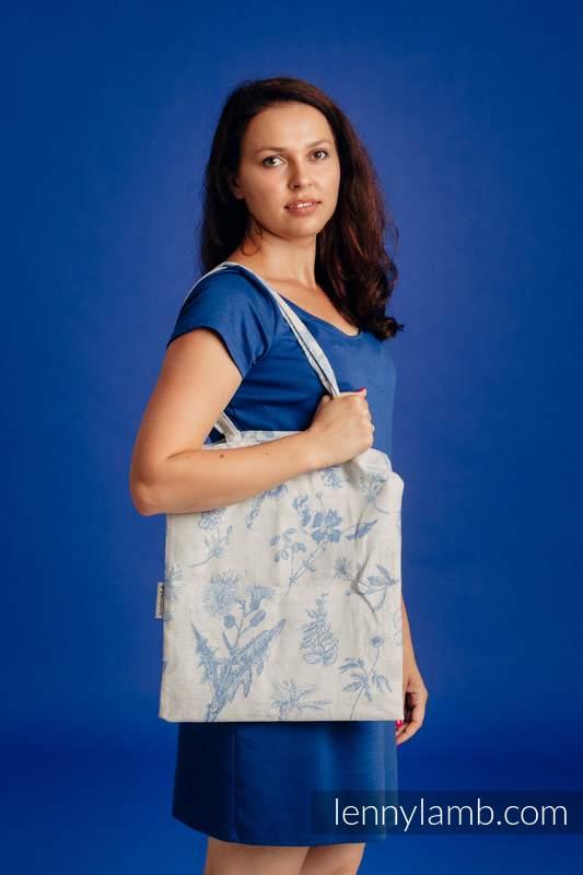 Torba na zakupy z materiału chustowego, (100% bawełna) -  HERBARIUM - CHABROWA ŁĄKA #babywearing