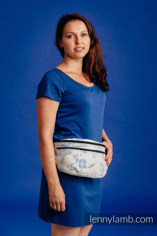 Gürteltasche, hergestellt vom gewebten Stoff, Große Größen  (100% Baumwolle) - HERBARIUM - CORNFLOWER MEADOW #babywearing