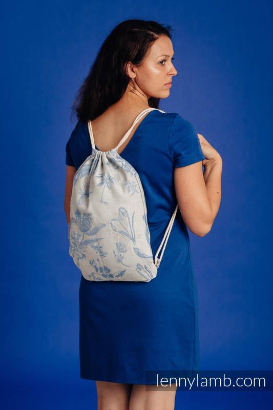 Sackpack made of wrap fabric (100% cotton) - HERBARIUM - CORNFLOWER MEADOW - standard size 32cmx43cm #babywearing