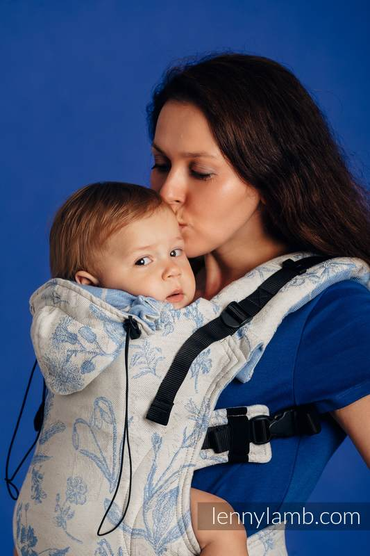 Nosidełko Ergonomiczne z tkaniny żakardowej (100% bawełna), Baby Size, HERBARIUM - CHABROWA ŁĄKA - Druga Generacja #babywearing