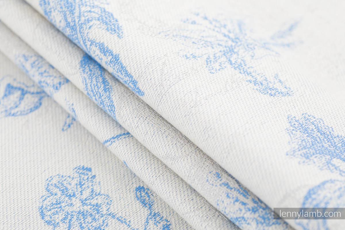 Baby Wrap, Jacquard Weave (100% cotton) - HERBARIUM - CORNFLOWER MEADOW - size XS #babywearing