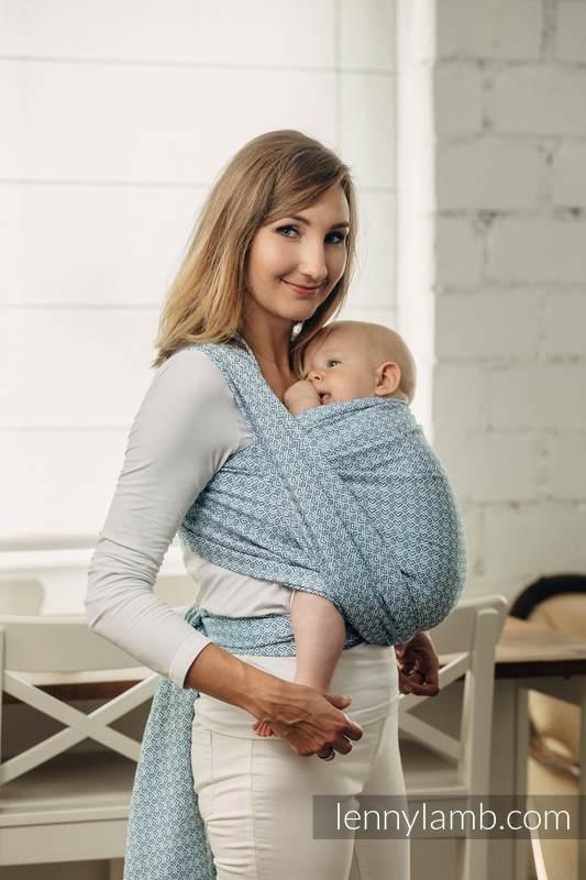 Moja druga chusta do noszenia dzieci - LITTLELOVE - SKY BLUE, splot żakardowy (100% bawełna) - rozmiar M #babywearing