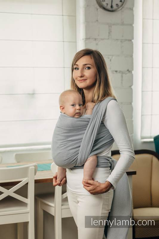 Basic Line Baby Sling , Herringbone Weave (100% cotton) - LITTLE HERRINGBONE GREY - size XL #babywearing