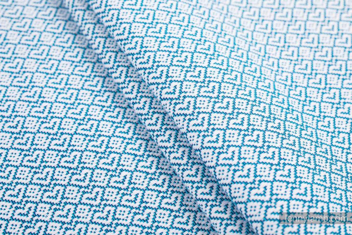 Baby sling for babies with low birthweight, Jacquard Weave, 100% cotton - LITTLELOVE - SKY BLUE - size M #babywearing