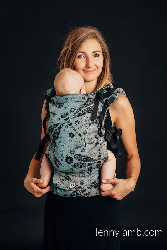 LennyUp Carrier, Standard Size, jacquard weave, 60% cotton, 28% linen 12% tussah silk - wrap conversion from DRAGONFLY - TWO ELEMENTS #babywearing