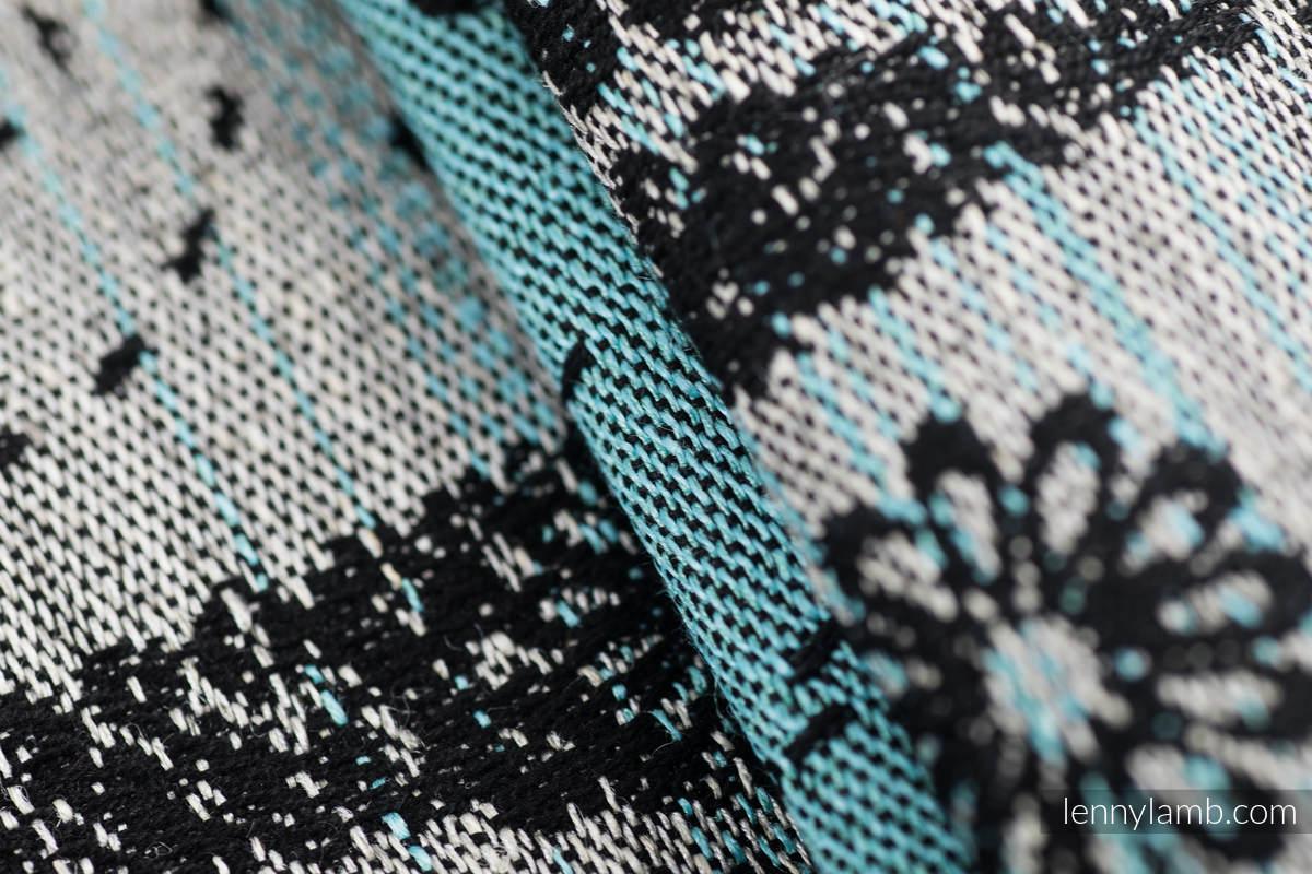 Baby Wrap, Jacquard Weave (60% cotton 28% linen 12% tussah silk) - DRAGONFLY - TWO ELEMENTS - size XL #babywearing