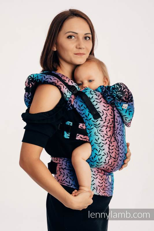 Ergonomic Carrier, Baby Size, jacquard weave 100% cotton - ENCHANTED NOOK - Second Generation #babywearing