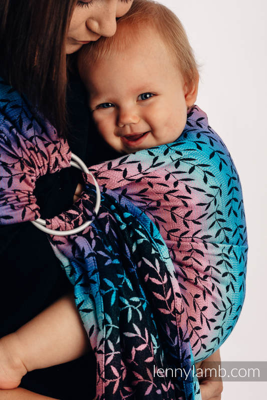 Ringsling, Jacquard Weave (100% cotton) - with gathered shoulder - ENCHANTED NOOK  - long 2.1m #babywearing