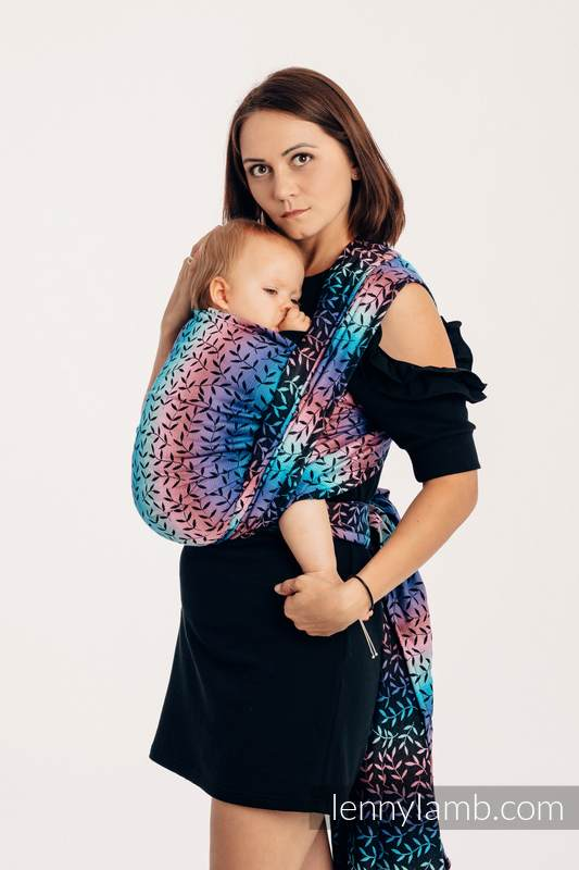 Baby Wrap, Jacquard Weave (100% cotton) - ENCHANTED NOOK  - size L #babywearing
