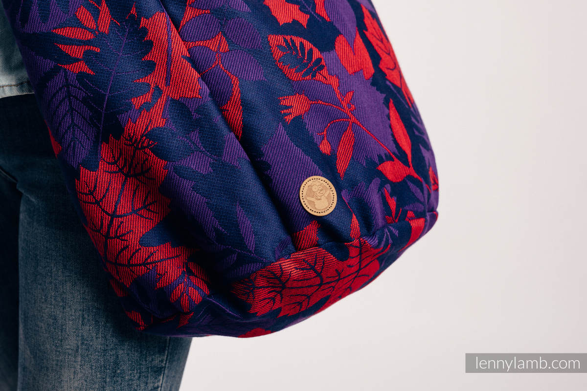 Hobo Bag made of woven fabric, 100% cotton - WHIFF OF AUTUMN - EQUINOX #babywearing